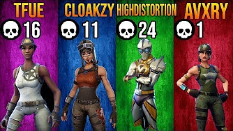 Avxry Fortnite Videos Tfue Cloakzy Highdistortion Avxry Playing Fortnite 52 Kills Squad Tokyvideo